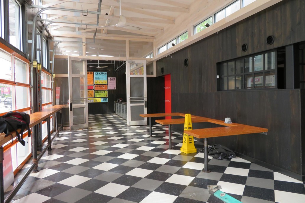 Former burger joint prior to takeover